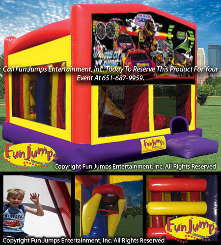 Race Car All In 1 Slide Combo Inflatable Rental, Fun Jumps