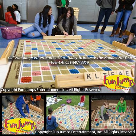Giant Scrabble Team Games Minnesota Party Rental
