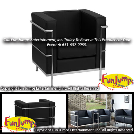 Black Lounge Chair Rental, MN Twin Cities Lounge Furniture