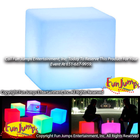 LED Lounge Cube Ottoman Rental, MN Twin Cities Lounge Furniture, Party  Event Rentals Minneapolis