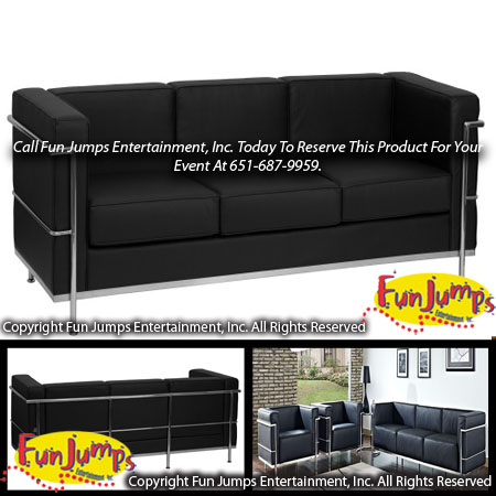 Black Lounge Sofa Al Mn Twin Cities Furniture Party Event Als Minneapolis