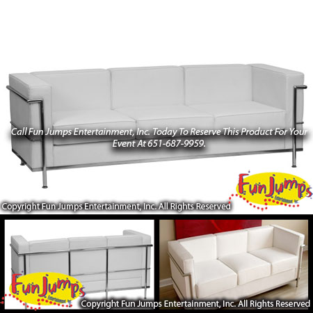Superieur White Lounge Sofa Rental, MN Twin Cities Lounge Furniture, Party Event Rentals  Minneapolis